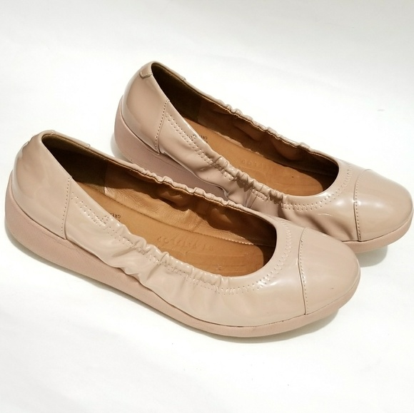 3754fde65ada Fitflop Shoes - FitFlop Due Patent Ballet Flat Shoes Nude